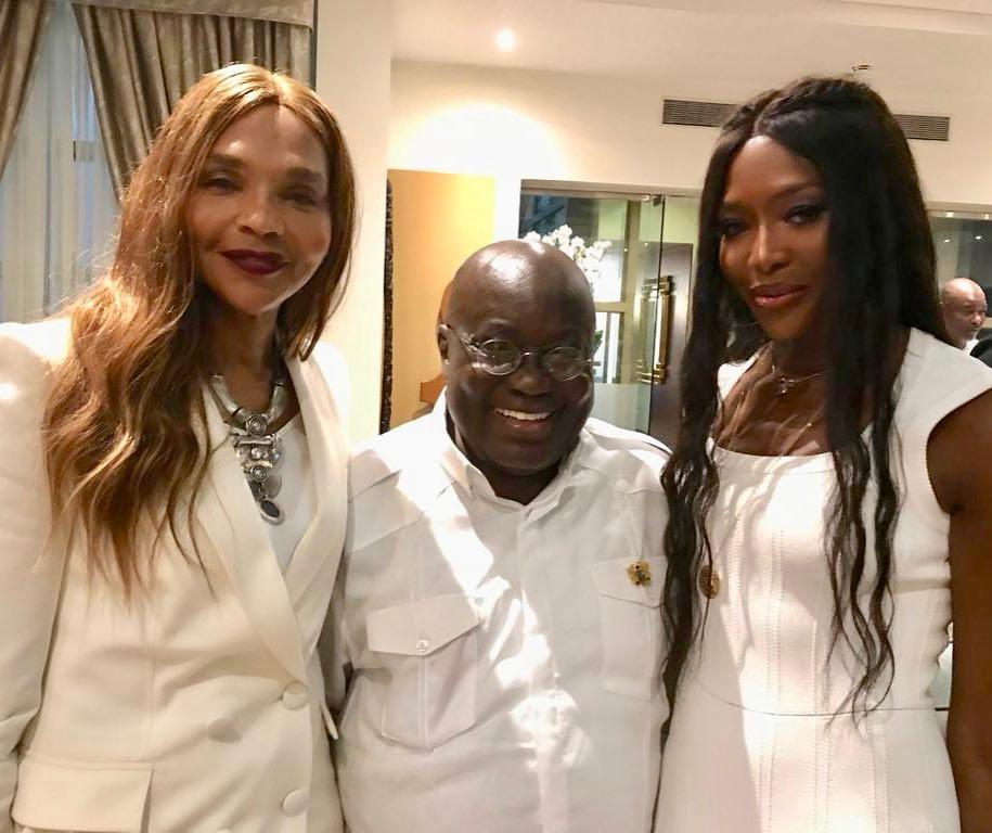 Naomi Campbell Meets Nana Akufo-Addo In Accra