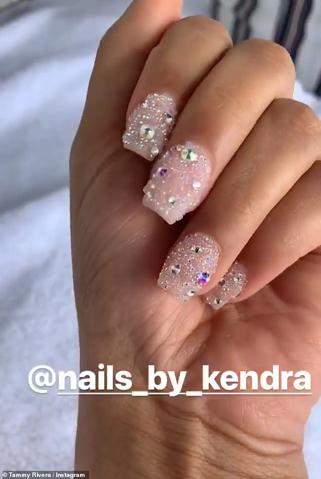 Tammy Rivera Expensive Nails For Renewed Vows Ceremony