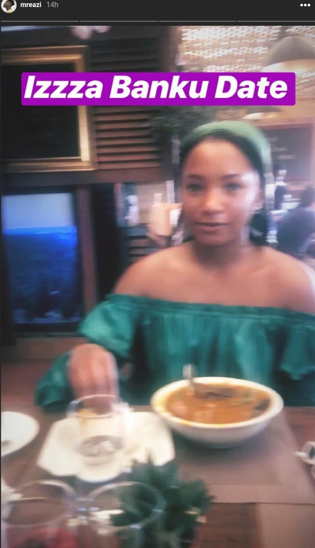 Mr Eazi And Girlfriend Temi Otedola Pictured Eating Banku (3)