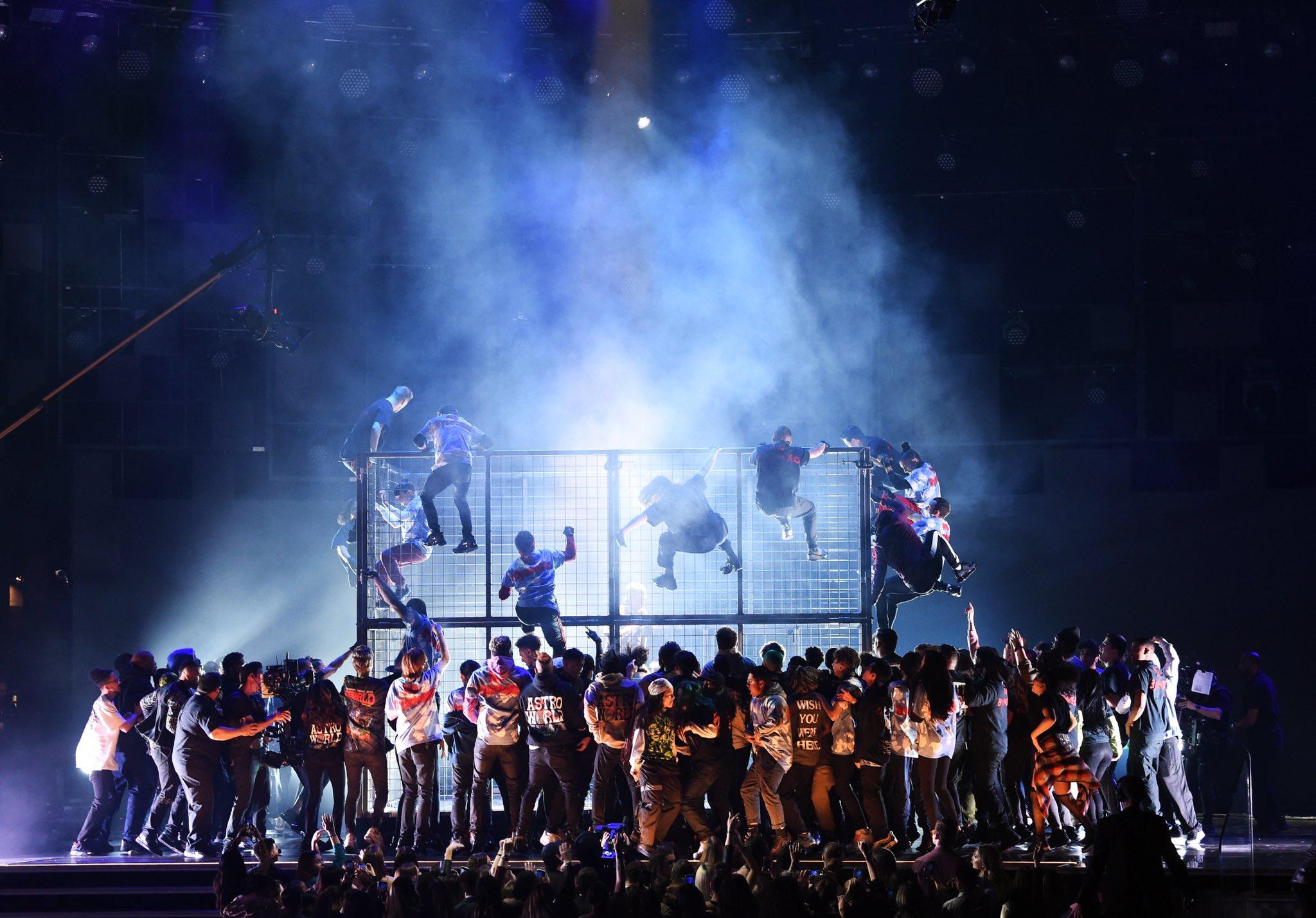 Travis Scott Dives In 'Astroworld' Medley Performance 2019 Grammy Awards