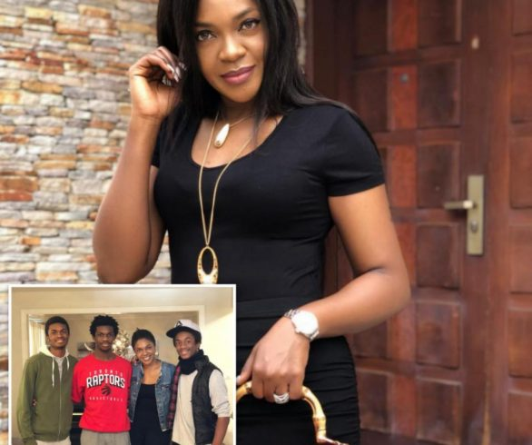 Omoni Oboli Shares Photo With Her Sons