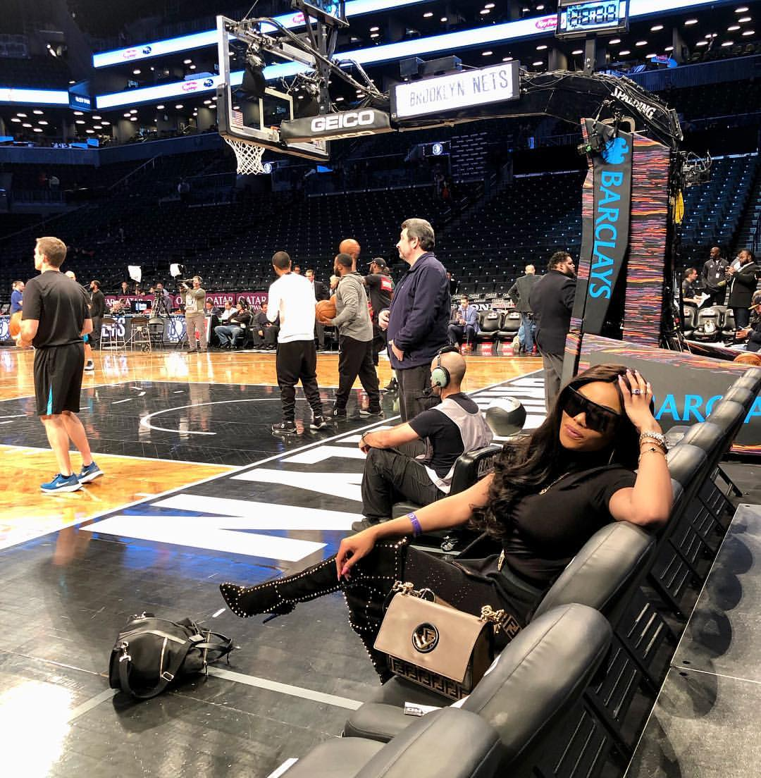 Bonang Matheba chilling at the Barclays Center in New York City