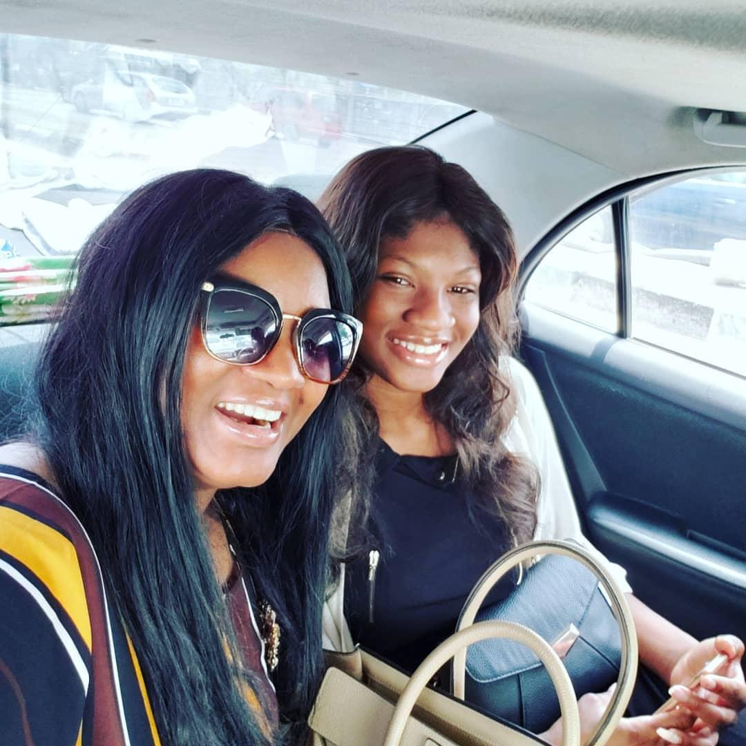 Omotola Jalade Celebrates As Daughter Princess Returns Home After 2 Years (2)