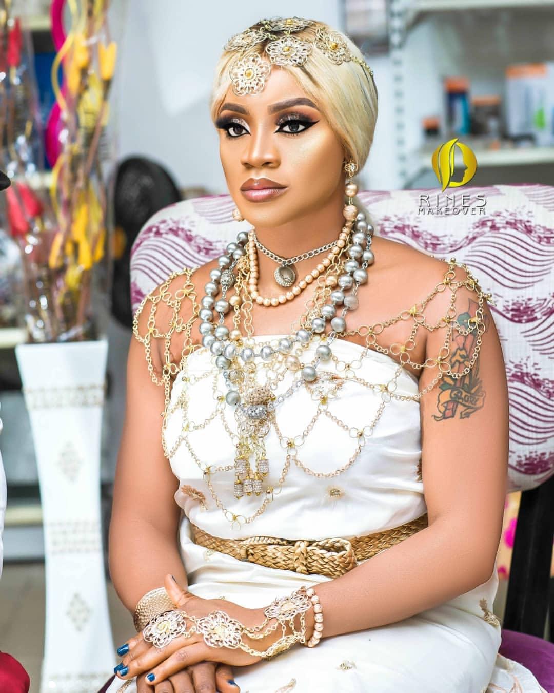 Uche Ogbodo Stunns As An Ishekiri Inspired Bride (3)