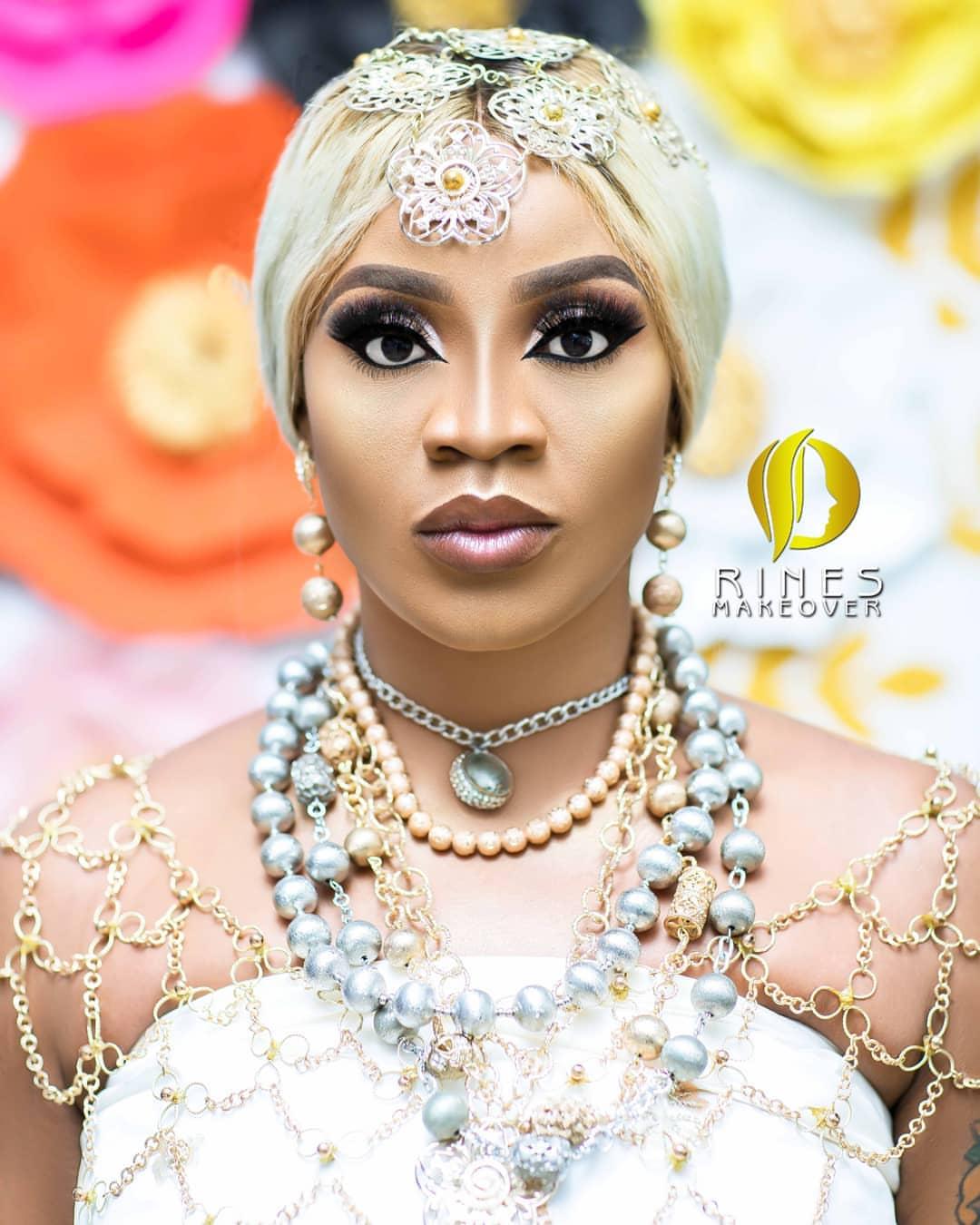 Uche Ogbodo Stunns As An Ishekiri Inspired Bride (2)