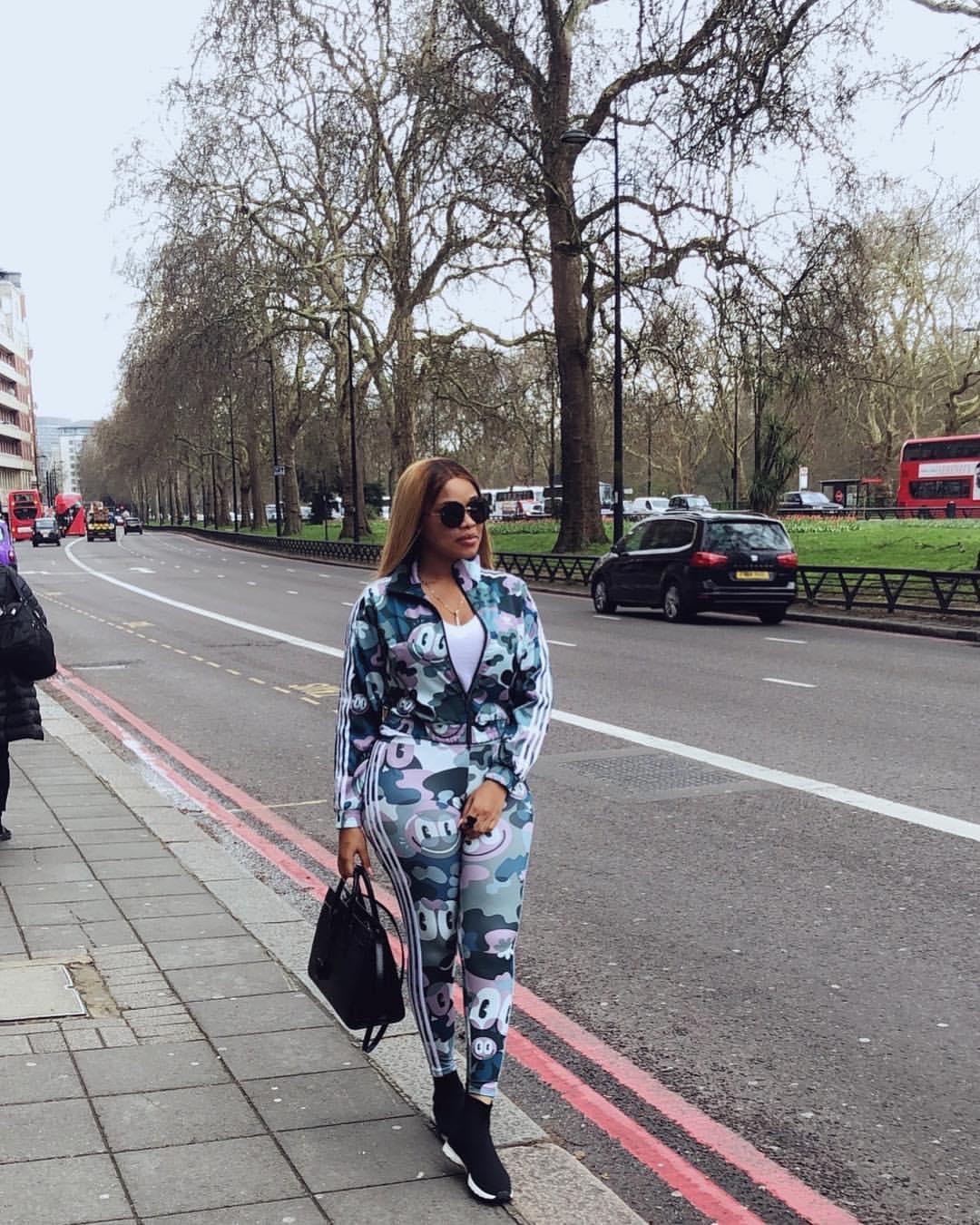 Onyii Alex Wearing Adidas In London