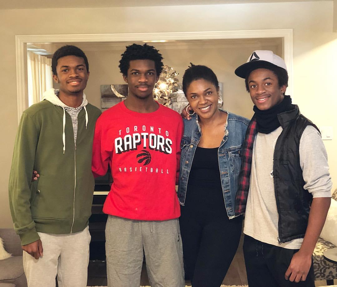 Omoni Oboli Poses With Sons