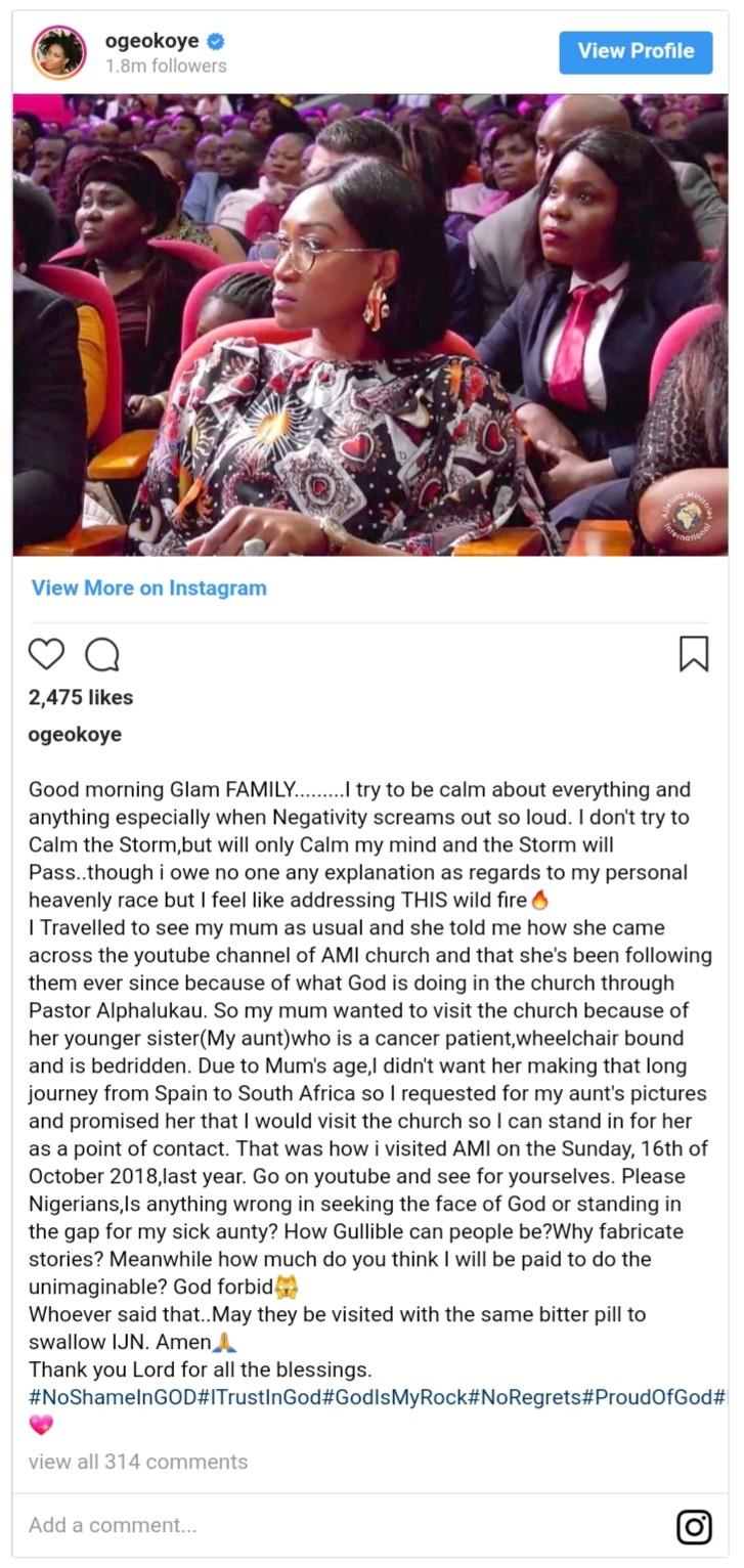 Oge Okoye Explains Why She Visited Pastor Lukau (2)