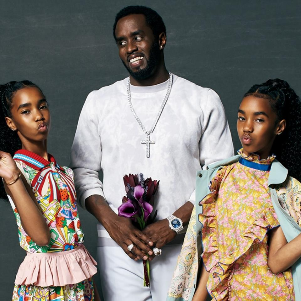 Diddy And Daughters Grace The Cover of ESSENCE