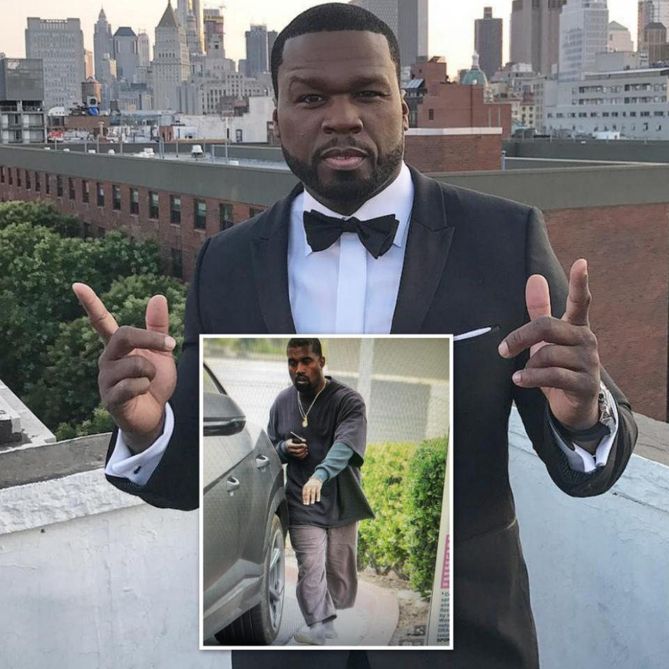 50 Cent Calls Out Kanye West For His Outfit