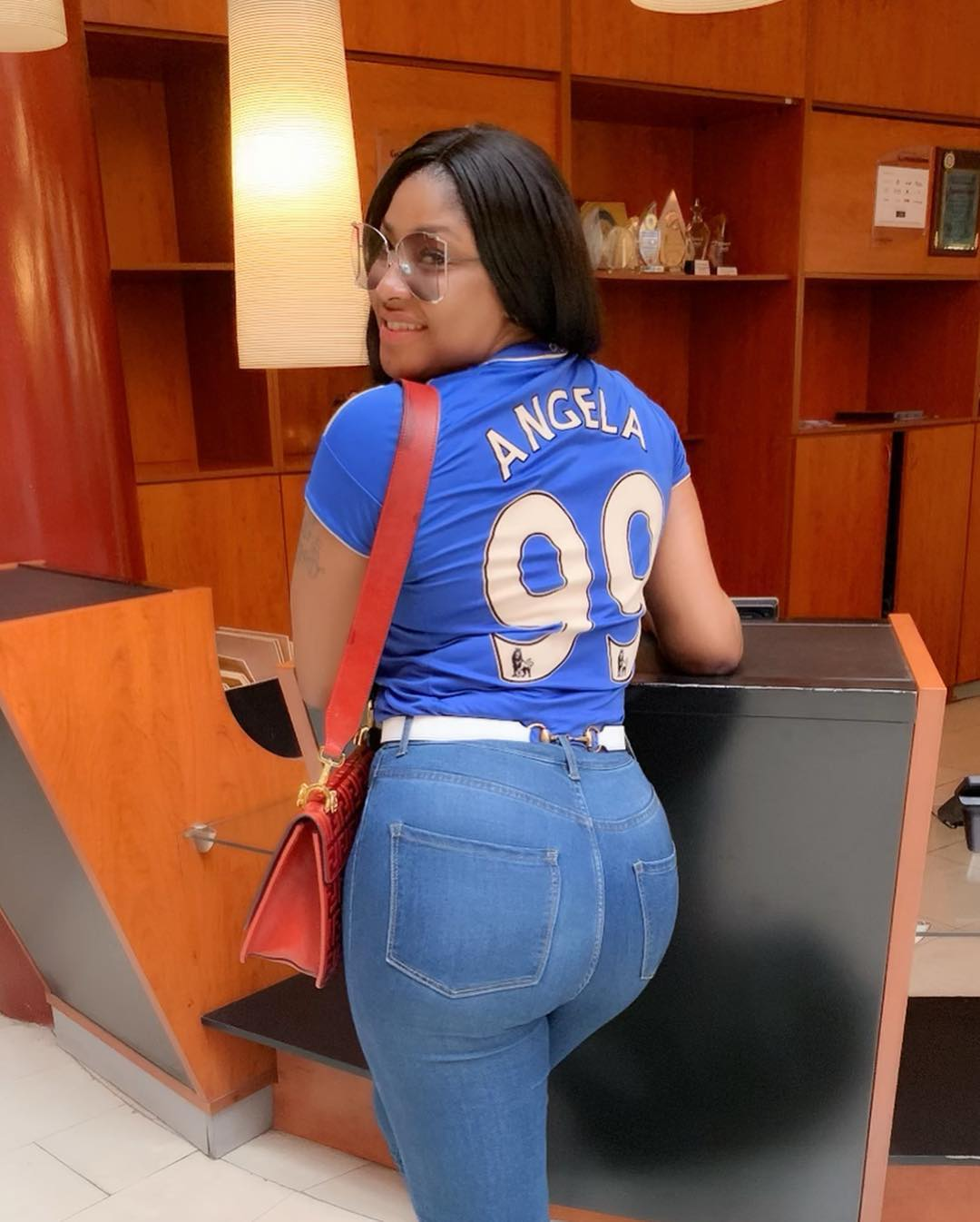 Angela Okorie Customized Chelsea FC Jersey (3)