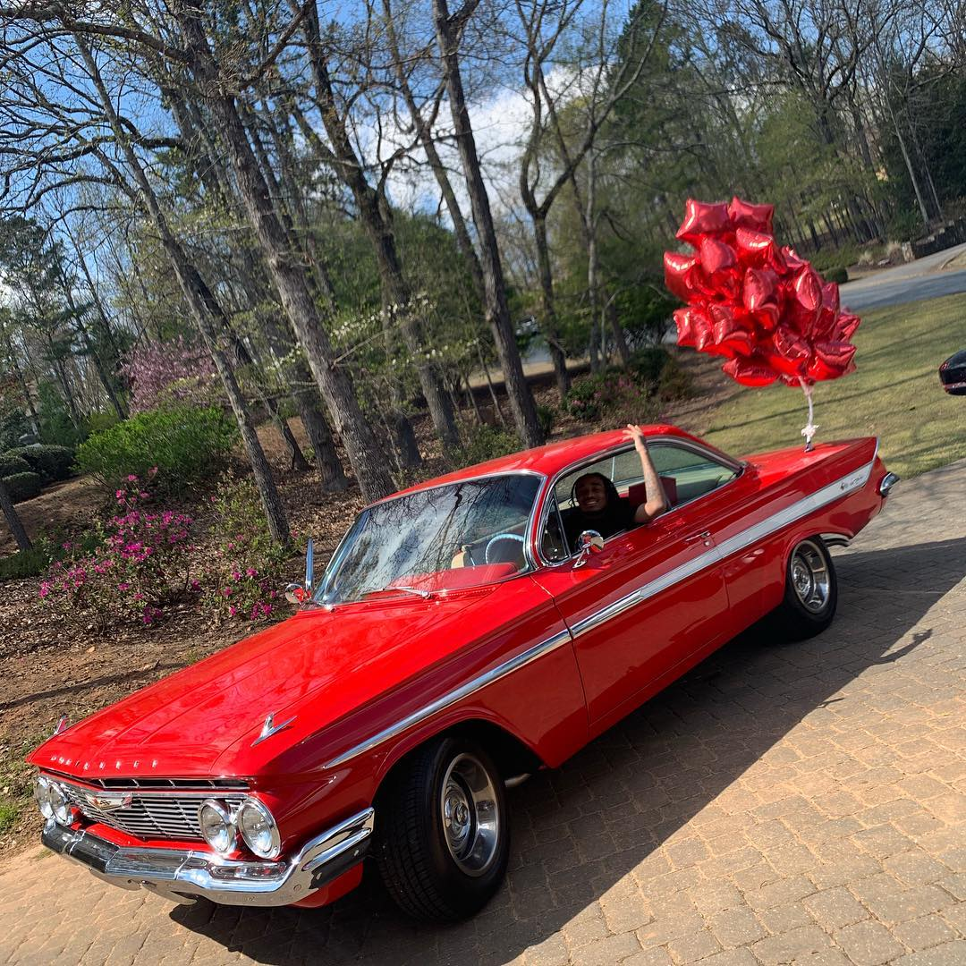 Saweetie Gifts Quavo 1961 Chevy Impala For His 28th Birthday (2)