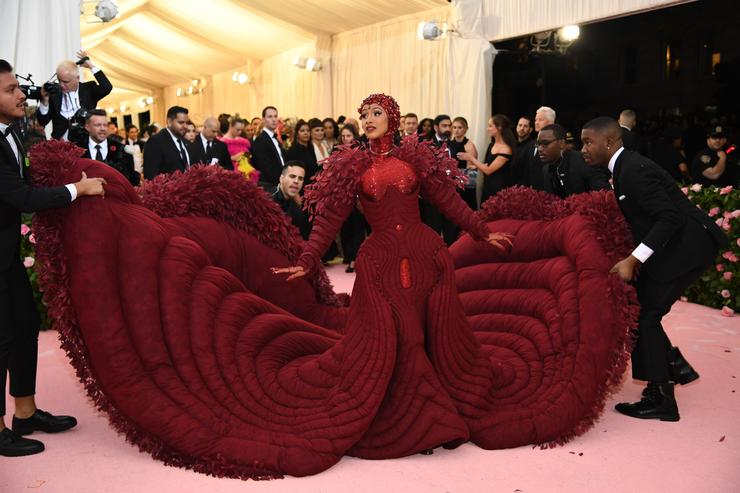 Cardi B Says Her 2019 Met Gala Gown Was Inspired By Feminism (2)