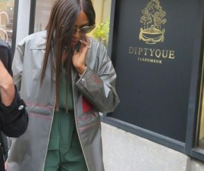 Naomi Campbell Waterproof Khaki Green Jumpsuit