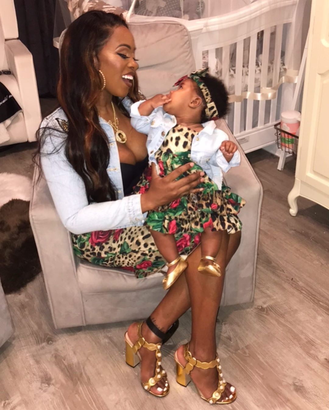 Remy Ma And Daughter MacKenzie Matching Outfits (3)