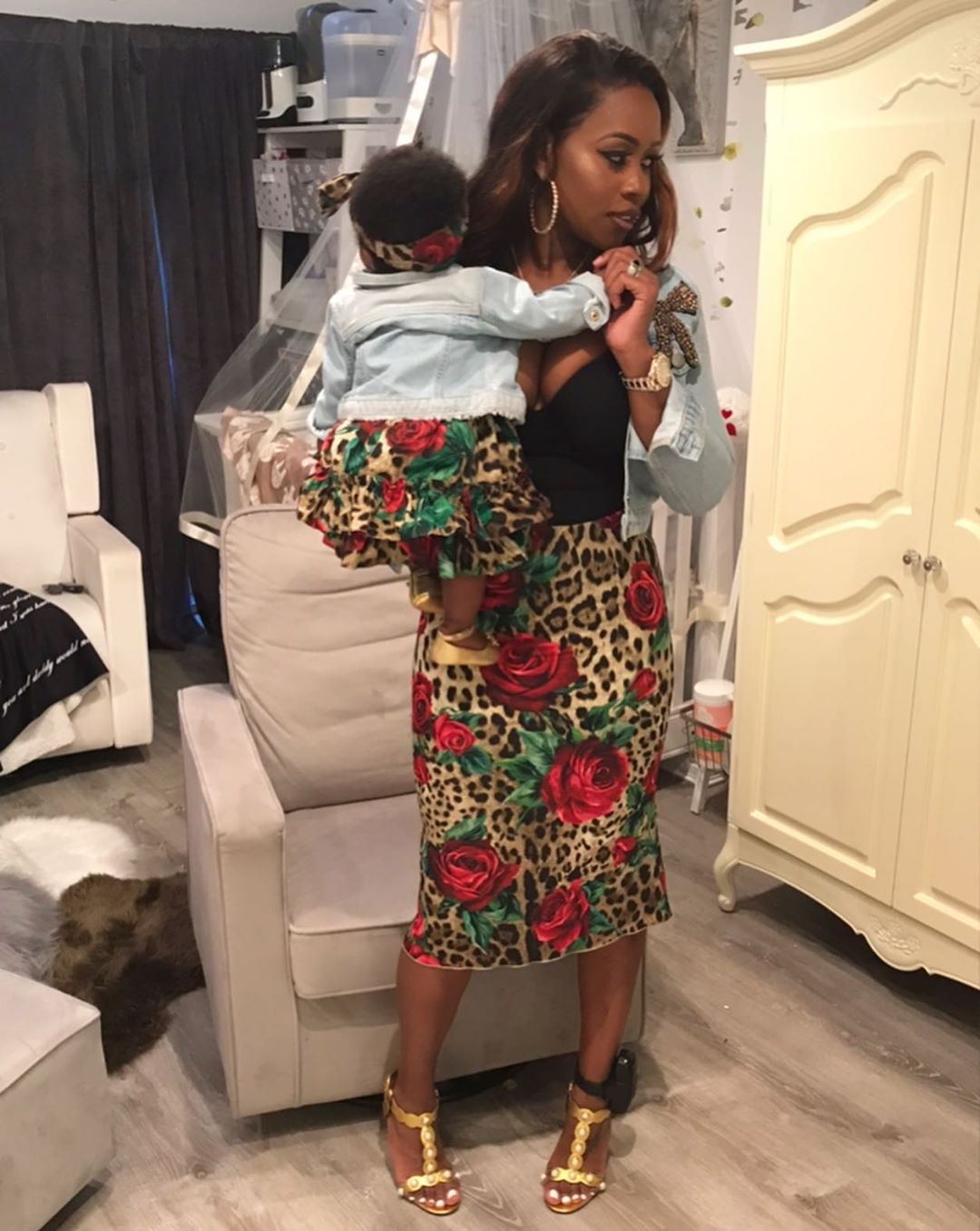Remy Ma And Daughter MacKenzie Matching Outfits (5)