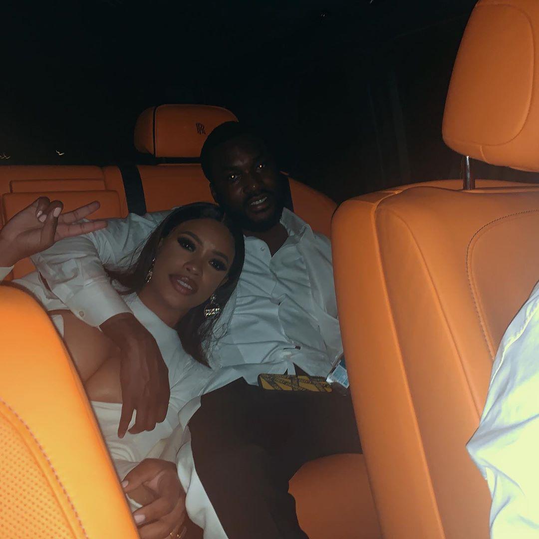 Meek Mill With Girlfriend Milan Di Rouge