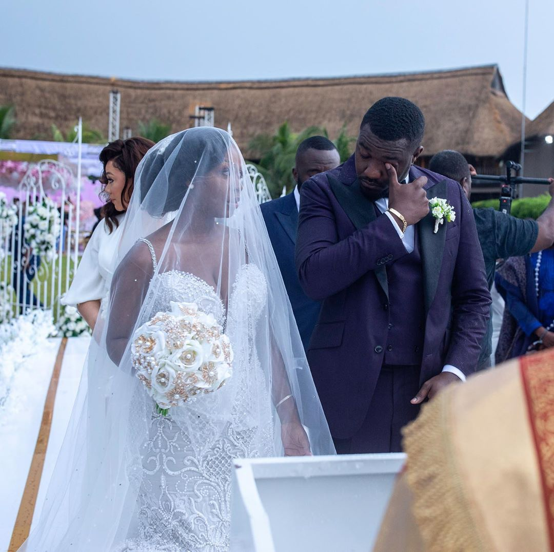 John Dumelo Crying During His White Wedding (2)