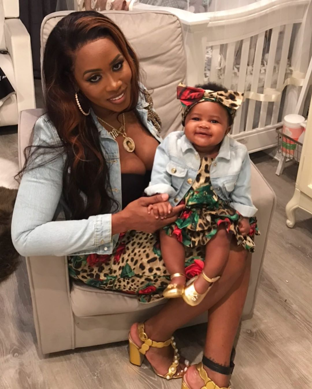 Remy Ma And Daughter MacKenzie Matching Outfits (2)