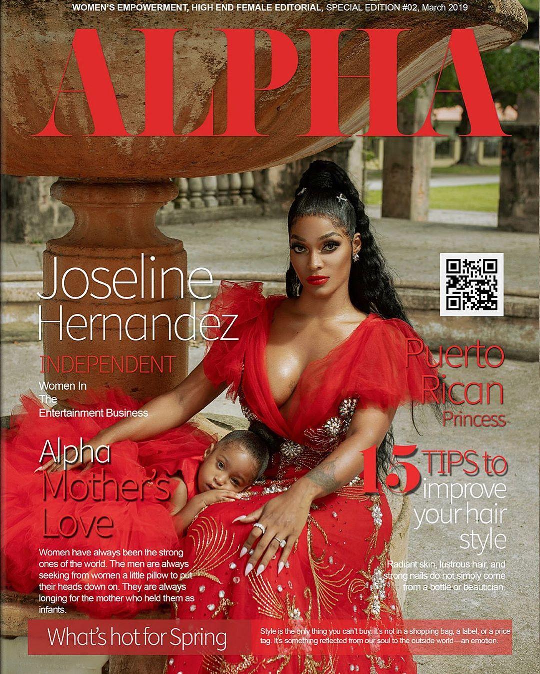 Joseline Hernandez And Daughter Bonnie Bella Cover Alpha Magazine (2)