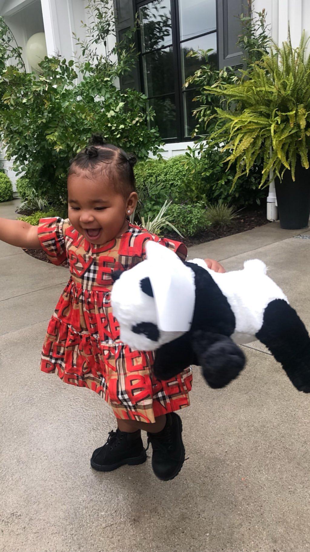 Khloe Kardashian's Daughter Hugging Her Stuffed Animal (3)
