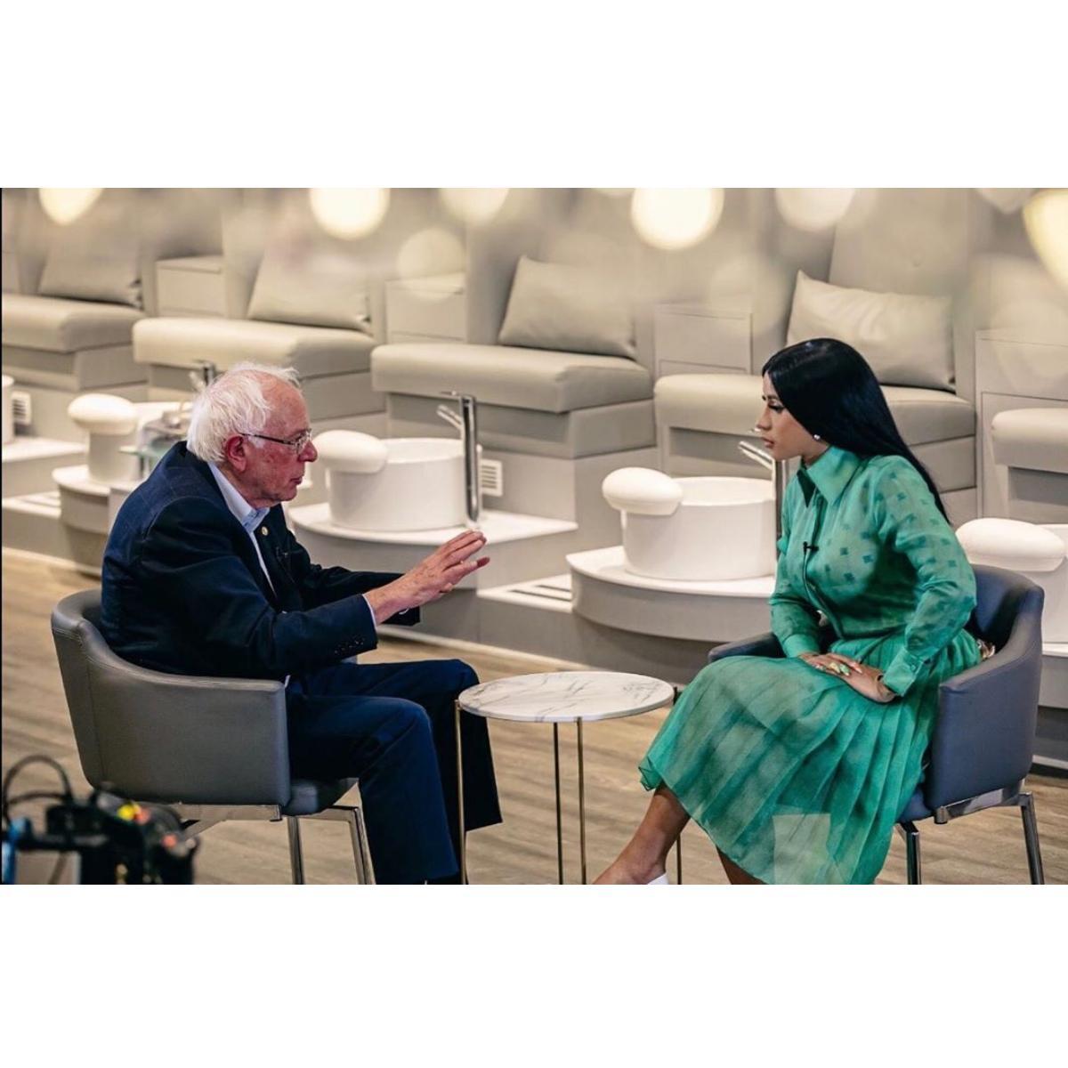 Bernie Sanders Reveals Plans To Become President To Cardi B