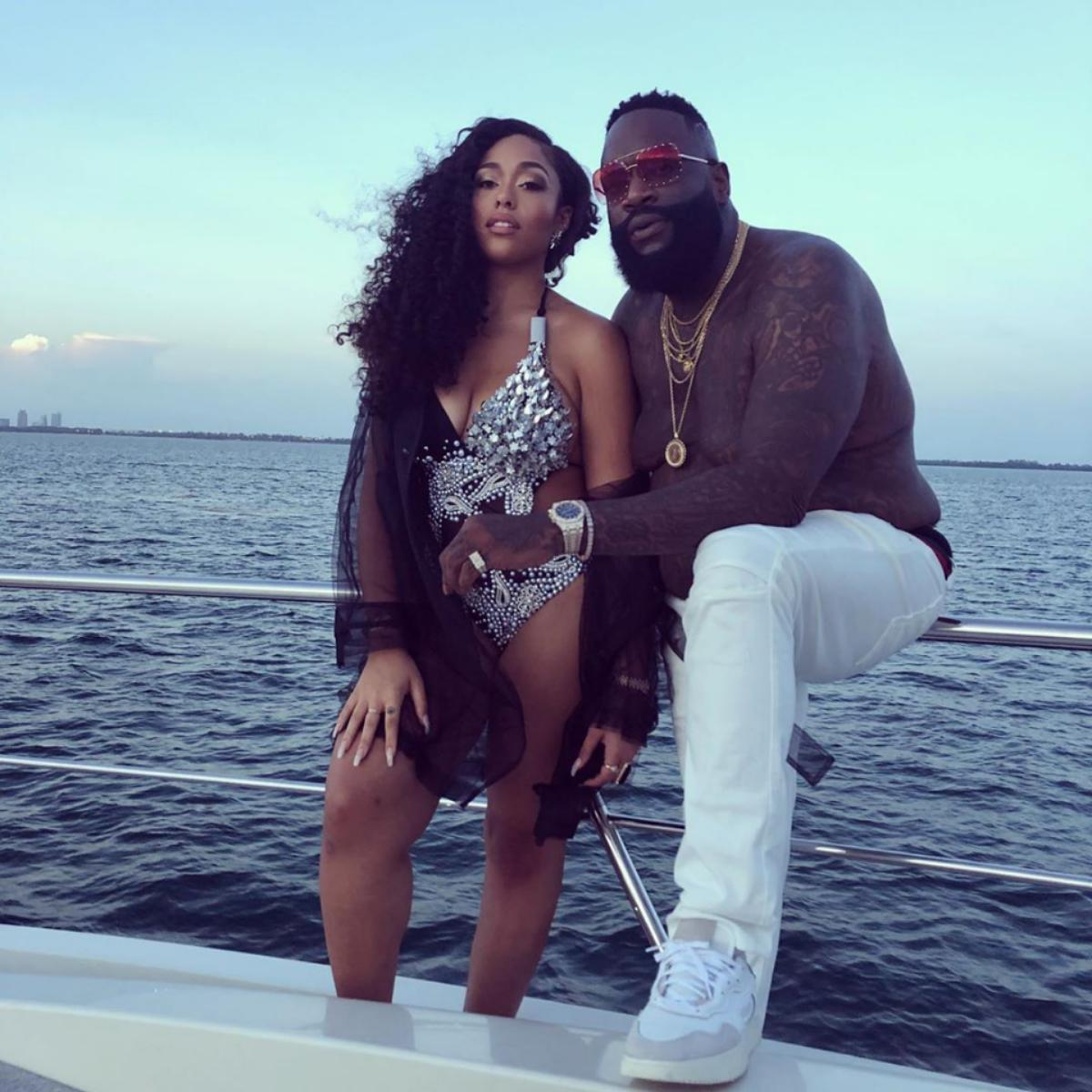 Rick Ross Behind-The-Scenes Photos Of Jordyn Woods Big Tyme