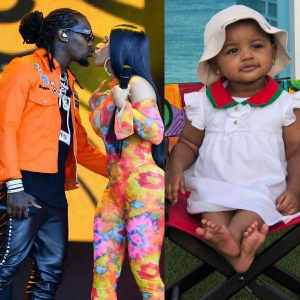Offset Styling Daughter Kulture's Hair