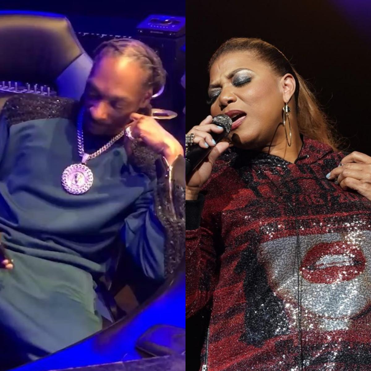 "Snoop Dogg And Queen Latifah ""Rapper's Delight"""