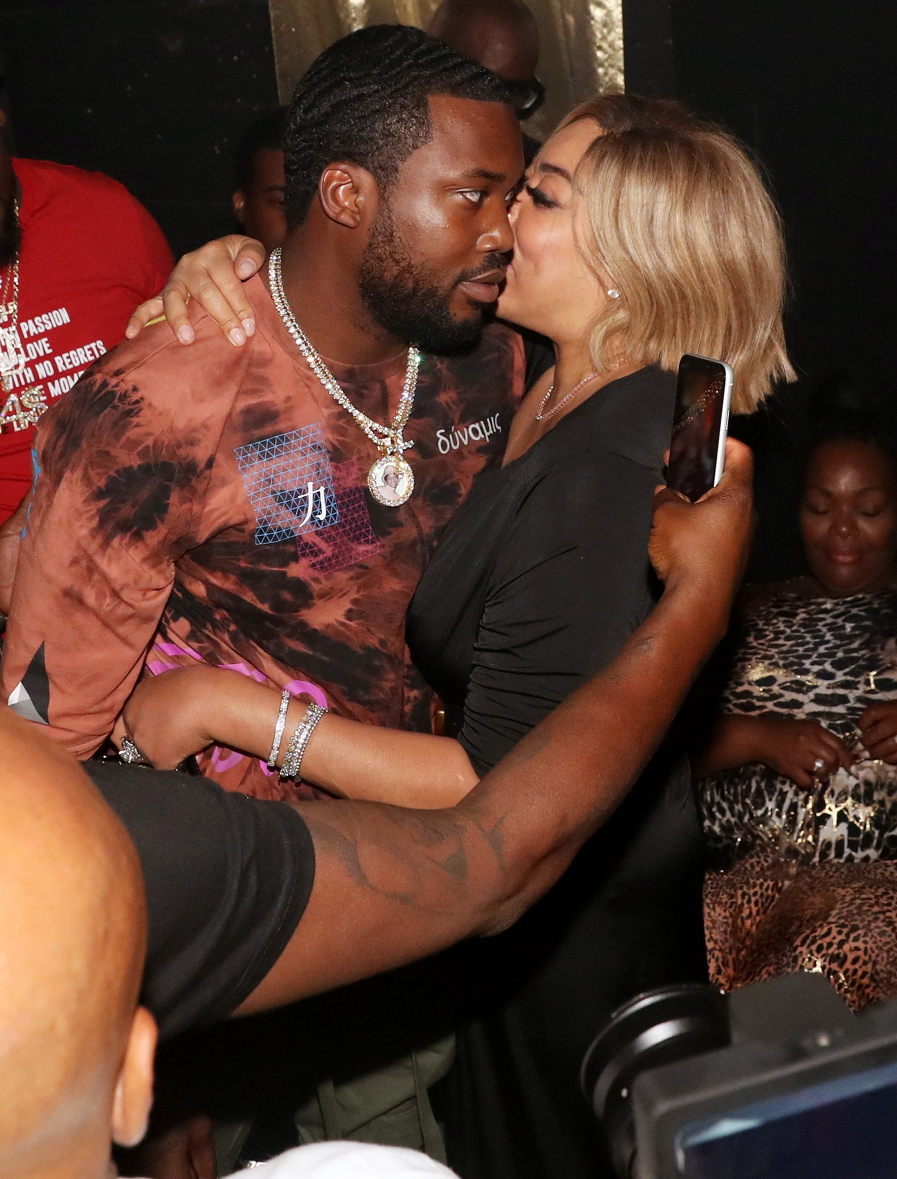 Wendy Williams Kisses Meek Mill Rick Ross Album Party (2)