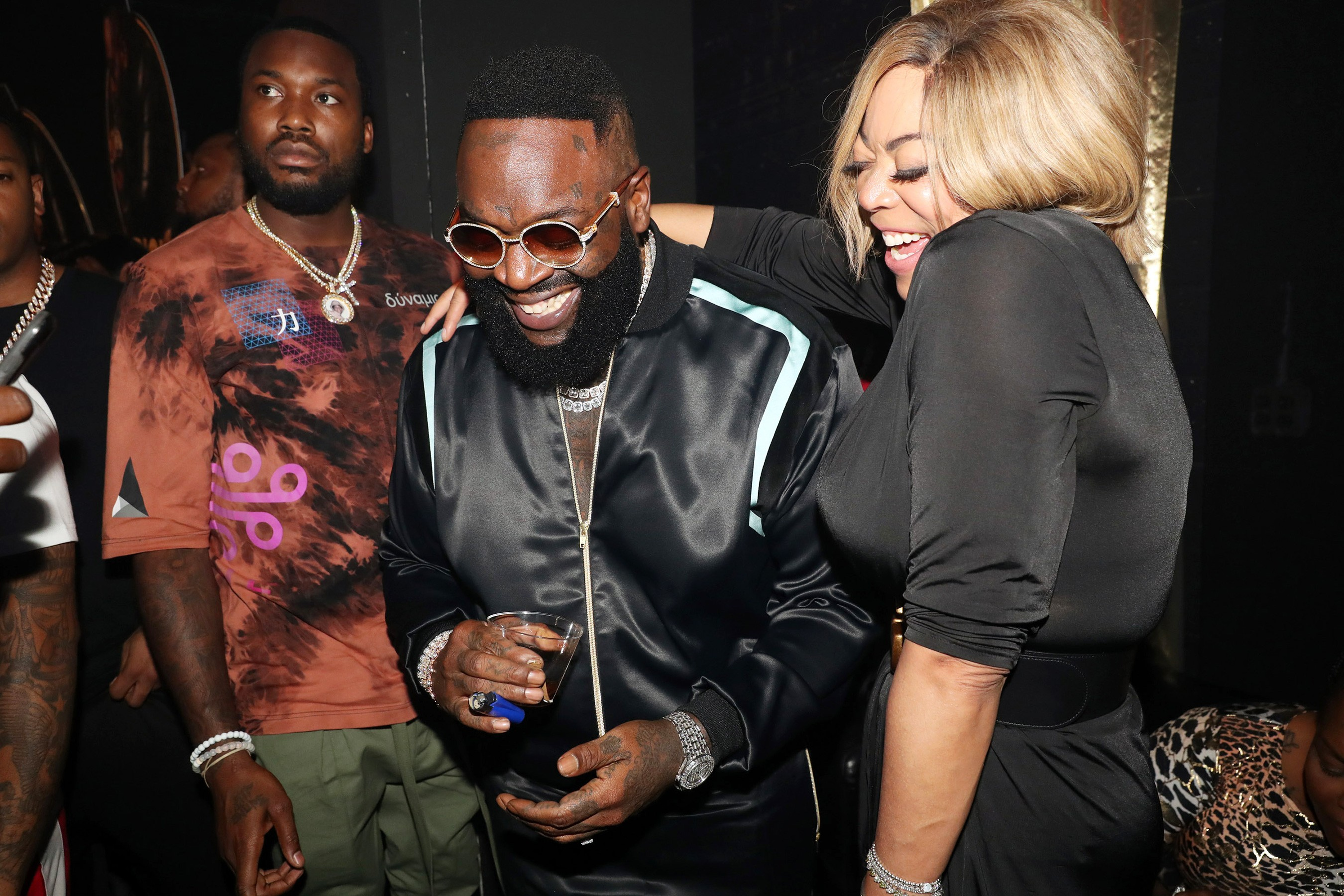 Wendy Williams Kisses Meek Mill Rick Ross Album Release Party (3)