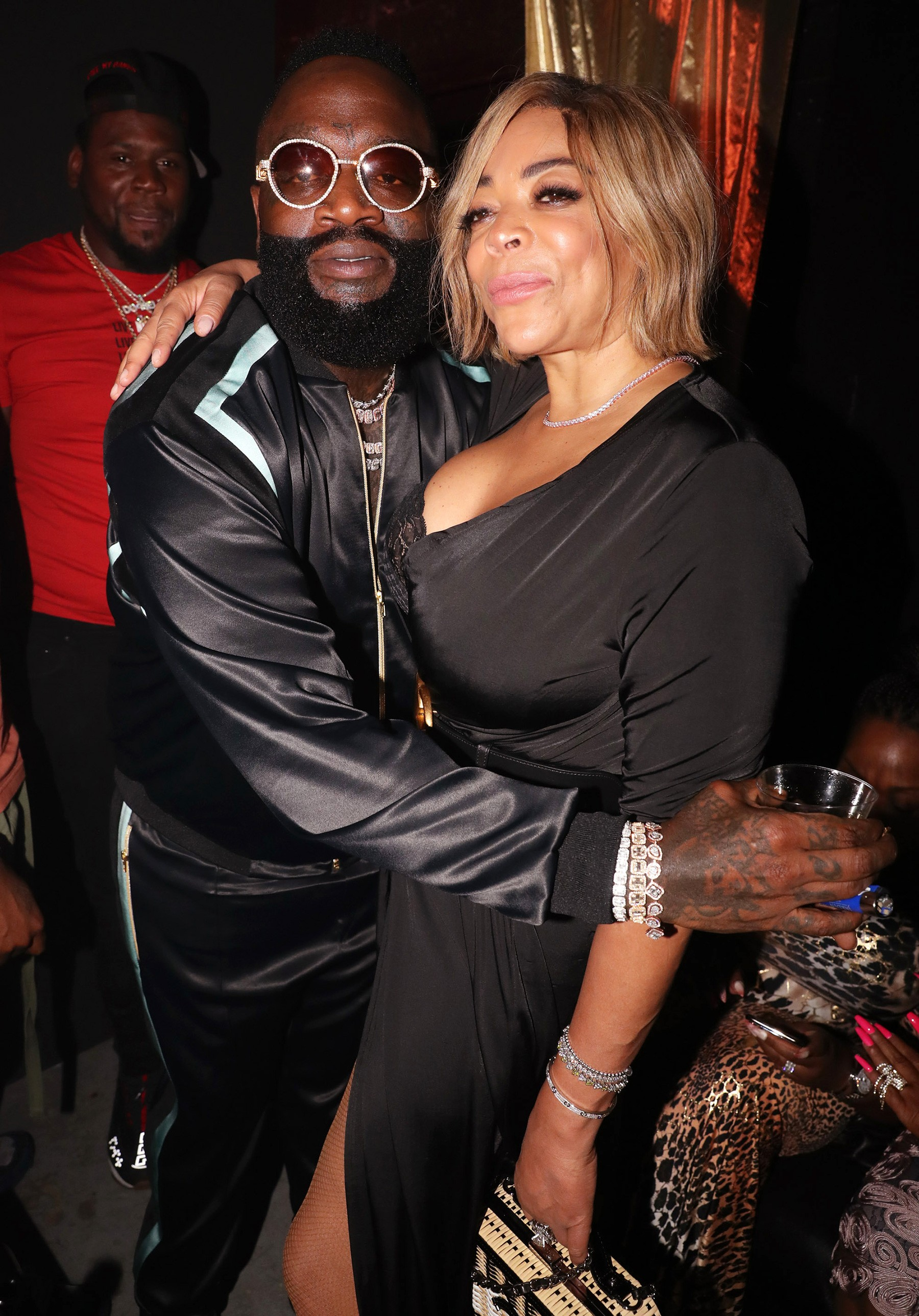 Wendy Williams Kisses Meek Mill Rick Ross Album Release Party (4)