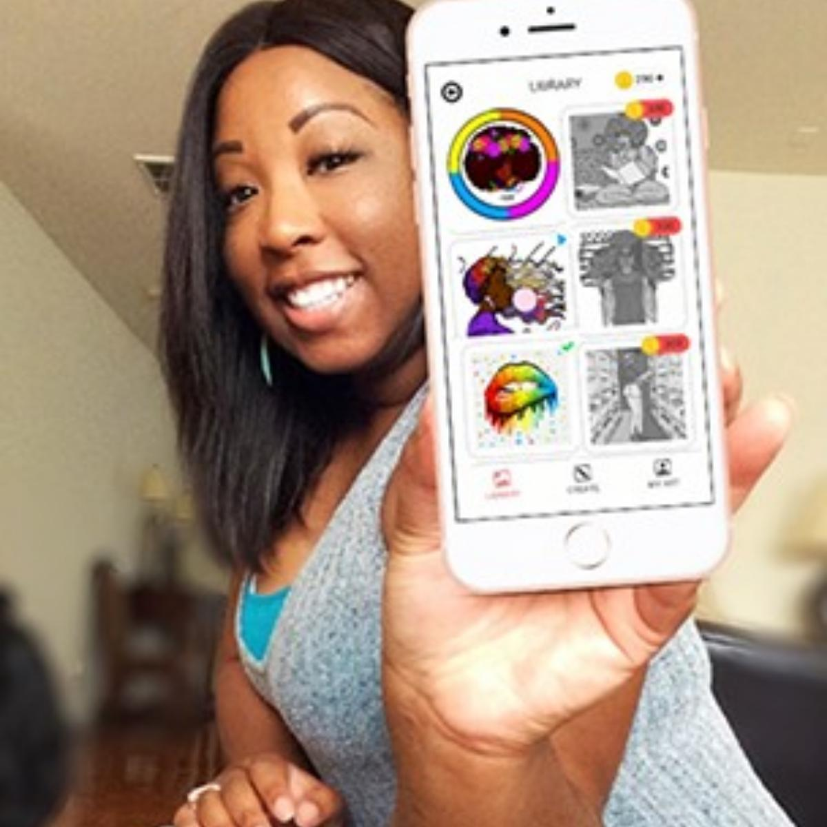First Ever Color By Number App Celebrating Black Women
