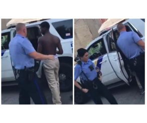 White Philadelphia Cops Harass Shirtless Black Boy Waiting For Bus
