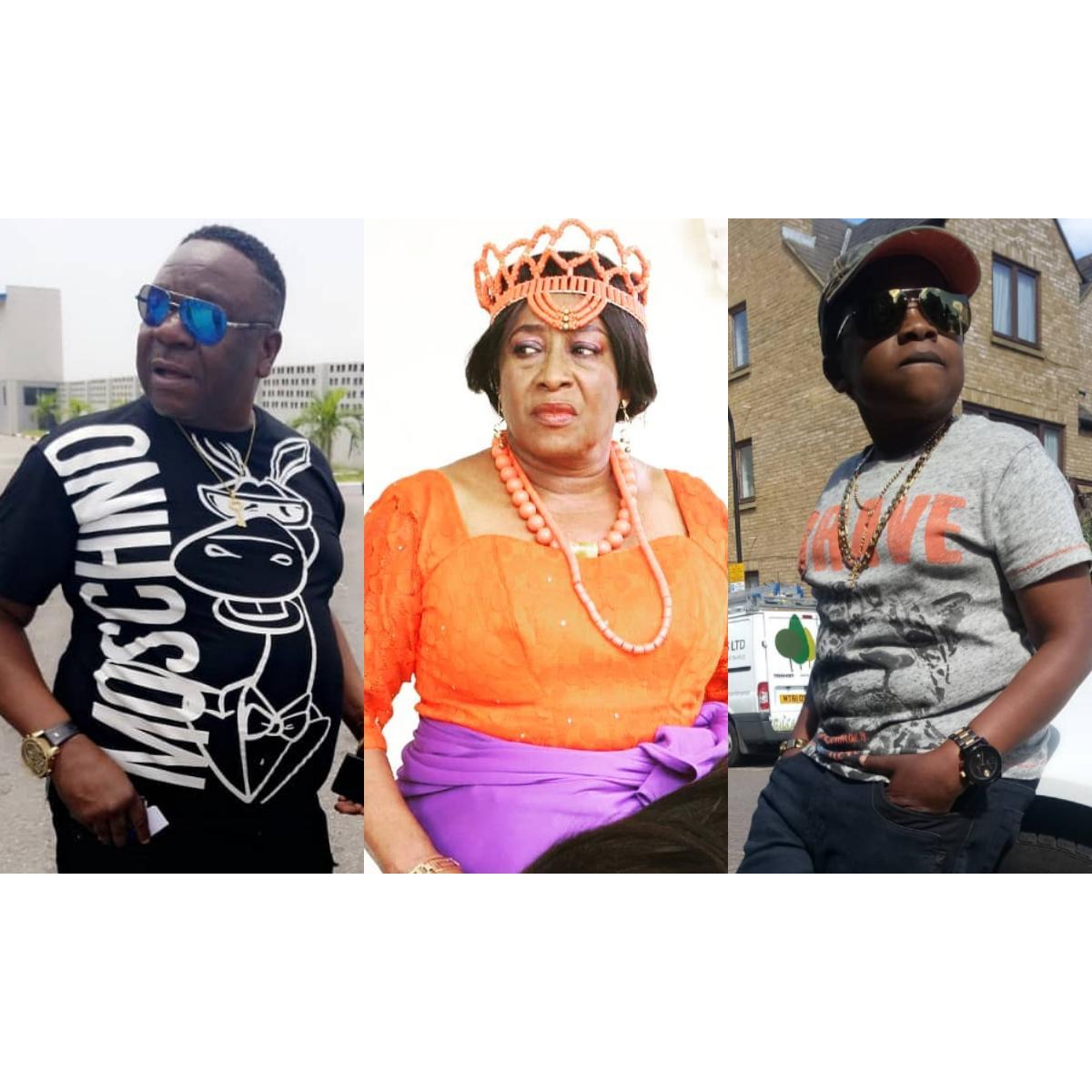 Nollywood Stars Patience Ozokwor Mr Ibu Visit BBNaija Housemates