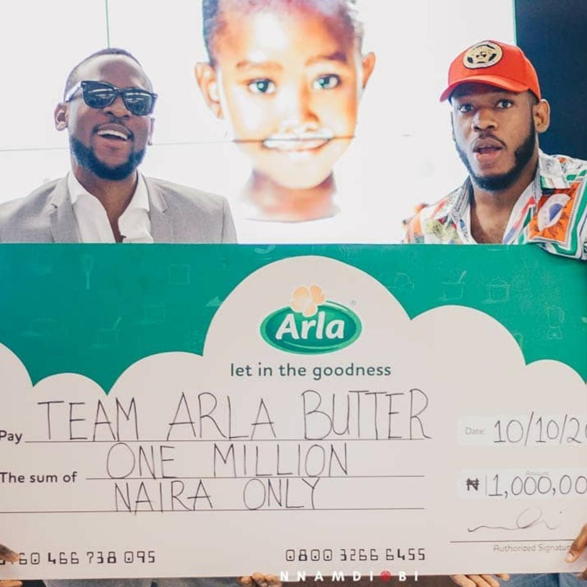 Omashola And Frodd Get N1million From Arla Nigeria