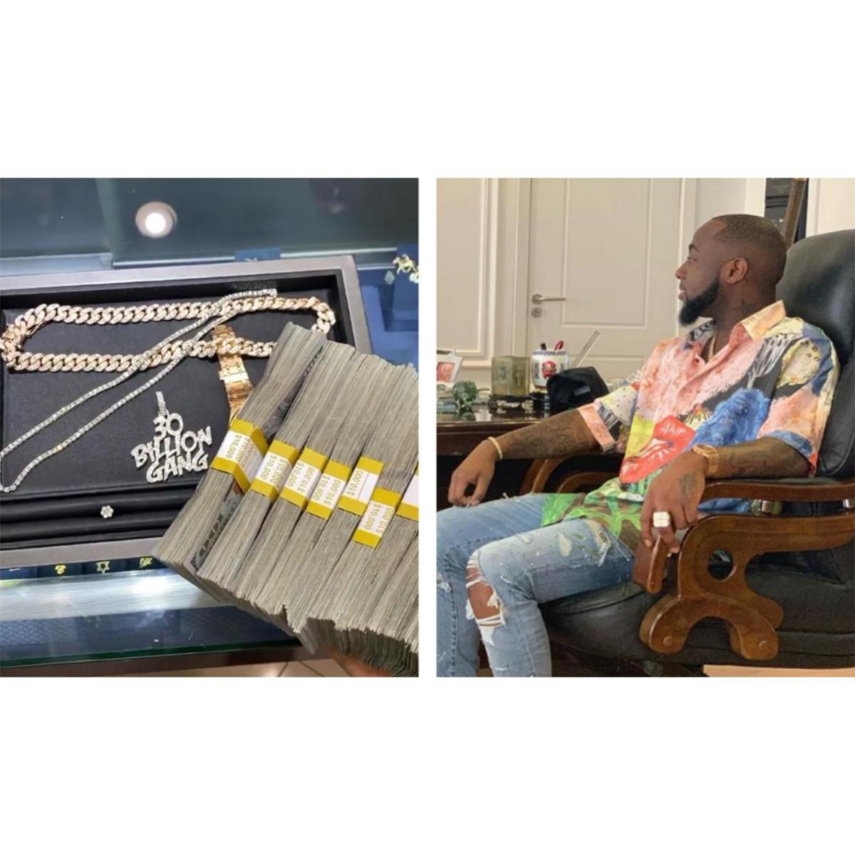 Davido Spends $100K Cash At Ice Box Buying Diamond Rings And Chains
