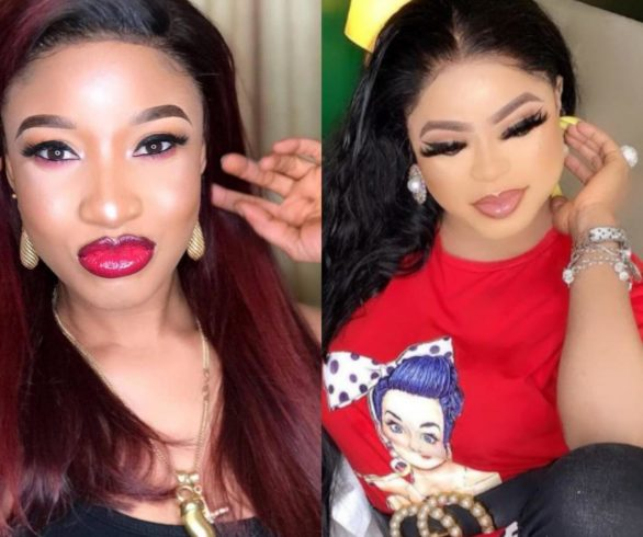 Tonto Dikeh Warns Bobrisky Not To Take Any Fan Into His Home