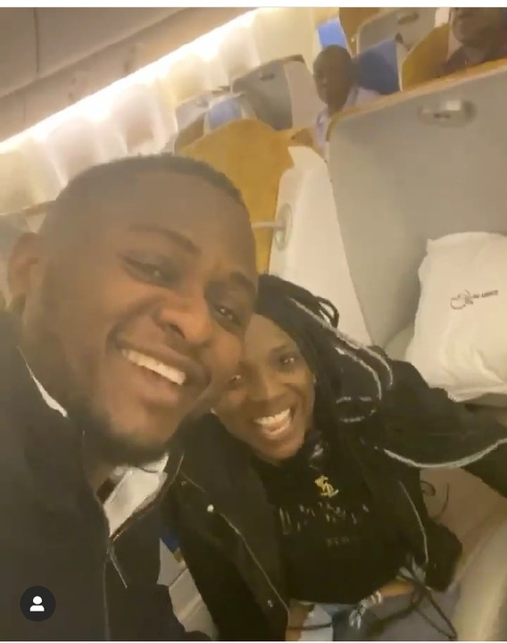 Annie Idibia Gives Ubi Franklin A Peck While On The Plane (4)