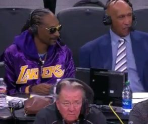 Snoop Dogg Commentary Skills In Broadcast Booth At Lakers Game