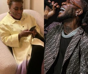 Photo Of Fela Kuti Lying On Top Burna Boy's Mother On Stage