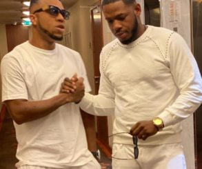 Frodd And Charles Okocha Pose Together In Dubai