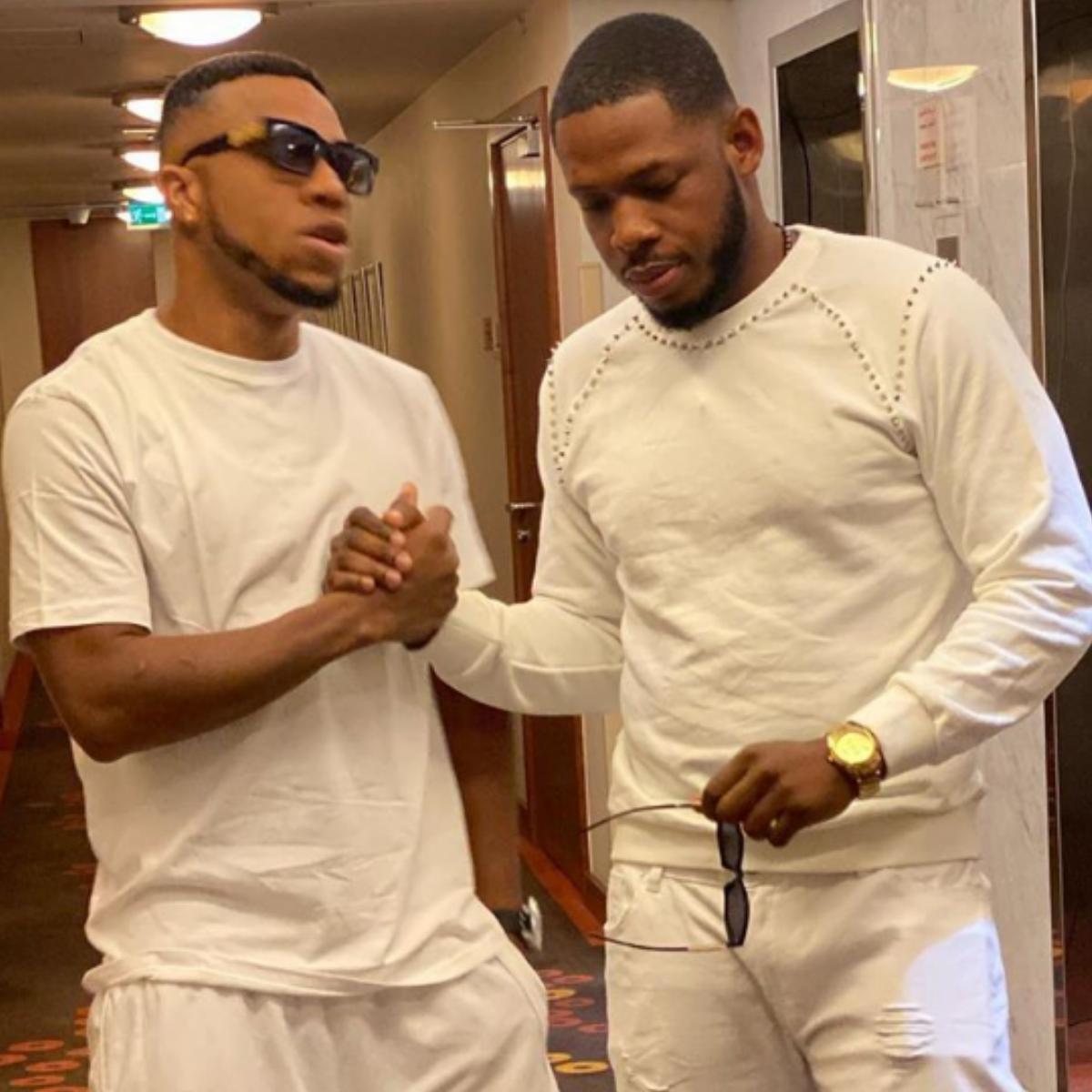 Frodd And Charles Okocha Pose Together In Dubai