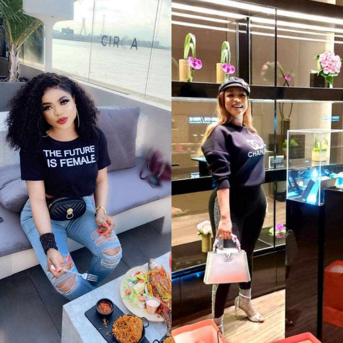 Tonto Dikeh And Anita Joseph Refer To Bobrisky As Him