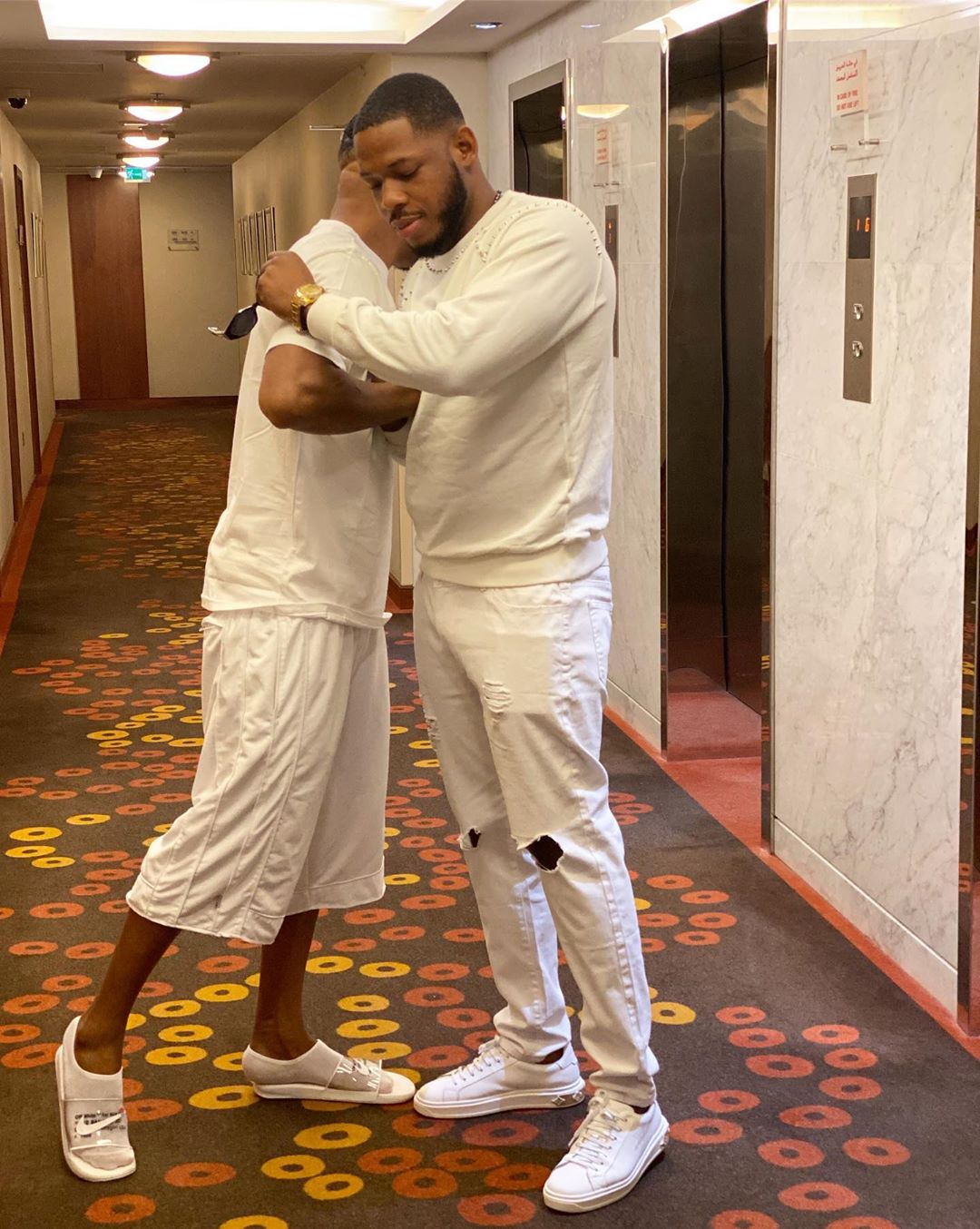 Frodd And Charles Okocha Pose Together In Dubai (4)