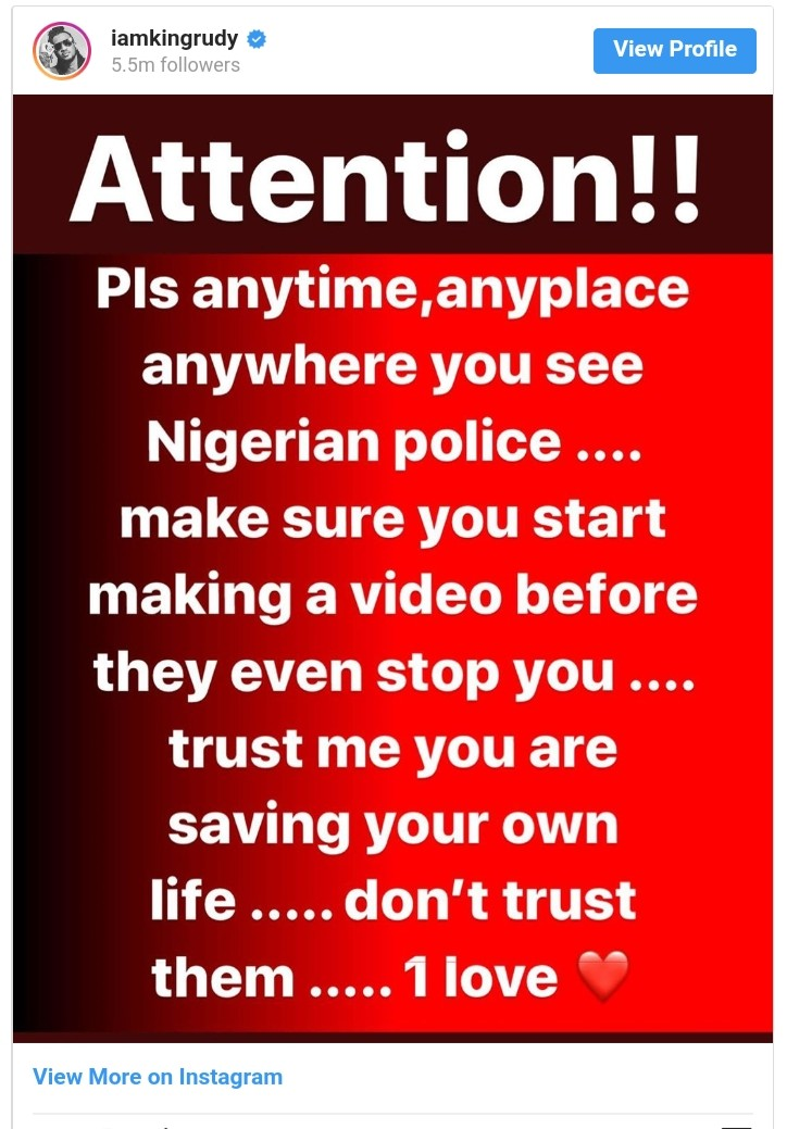 Paul Okoye Gives Tip On How To Save Your Life From Nigerian Police (2)
