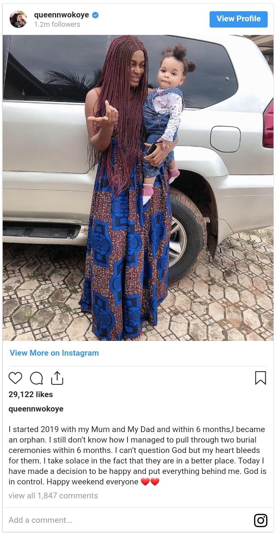 Queen Nwokoye Mourns Death Of Parents (2)