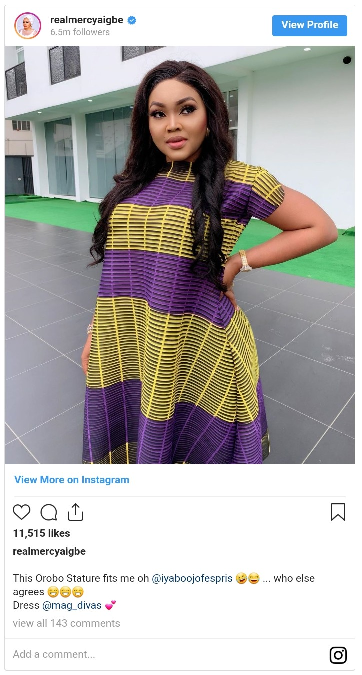 Mercy Aigbe Orobo Stature (2)