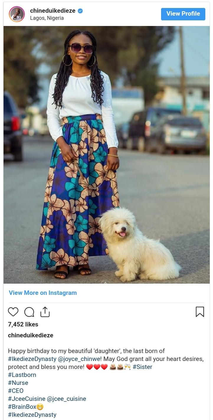 Chinedu Ikedieze Celebrates Sister On Her Birthday (2)