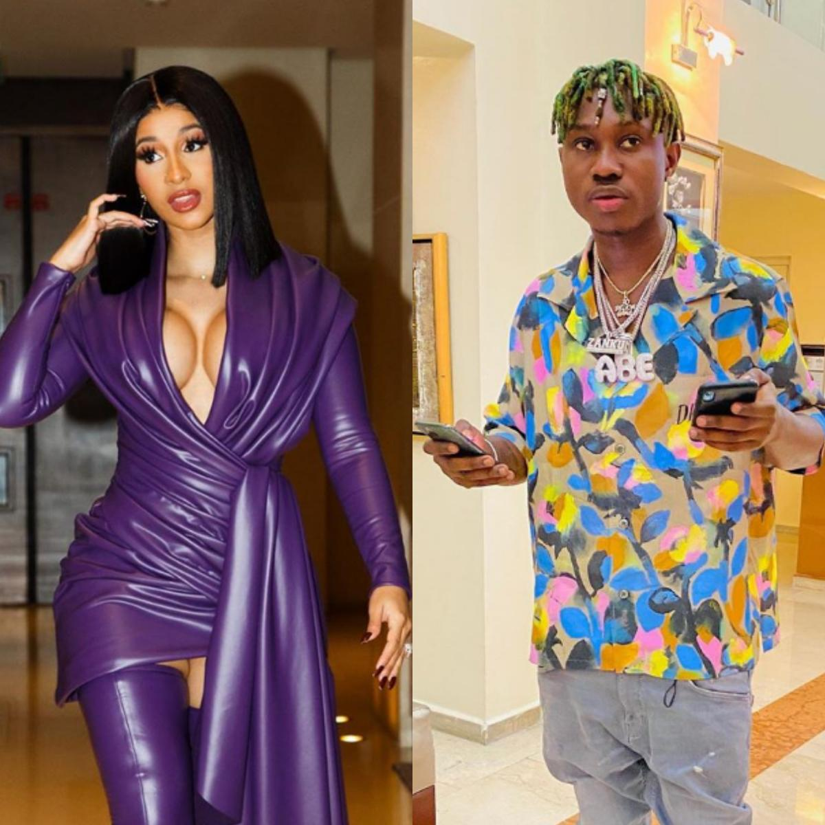 Zlatan Ibile And Cardi B Exchange Numbers For Collaboration